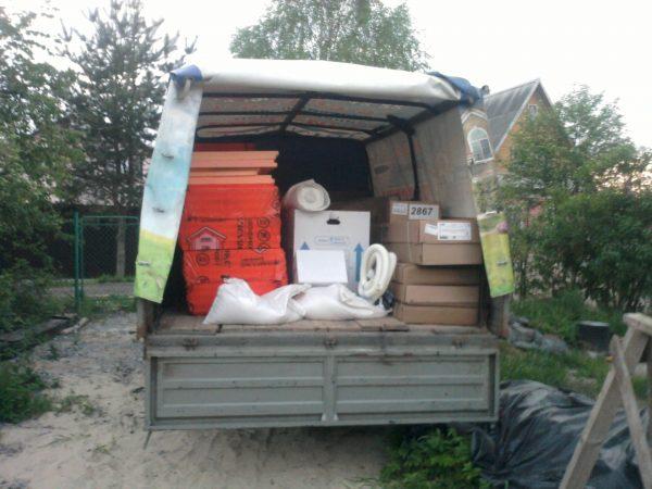 Перевозка вещей на дачу
