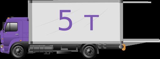 Грузовик-гидроборт 5 тонн