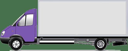 Газель удлиненная 5 м. Длина -5,1м, Ширина- 2,1м